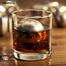 2pcs Steel Rocks Reusable Ice Cube Ball Sphere Whiskey Stones Wine Chillers