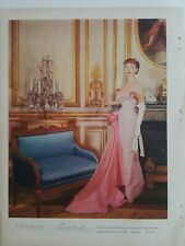 1955 Modess because feminine hygiene sanitary napkins redhead pink dress ad