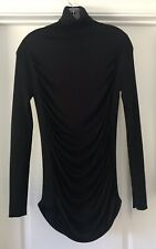 Jean Paul Gaultier Long Sleeve Black Turtleneck Sweater Pull Over Top Large