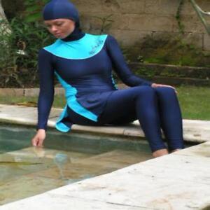 Woman Lady Modest Muslim Islam Swimwear Swimsuit Full Burkini Burqini Beach Wear