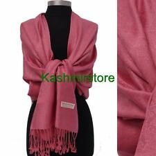 New Paisley Pashmina Silk Cashmere Shawl Scarf Stole Wrap Soft Dust Pink #P304