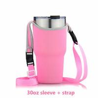 Pink Travel Mug Cup Sleeve Bag for 30Oz Rambler Tumbler Rtic YETI Ozark Holder
