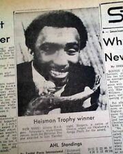 JOHNNY RODGERS Nebraska Cornhuskers College Football HEISMAN Win 1972 Newspaper