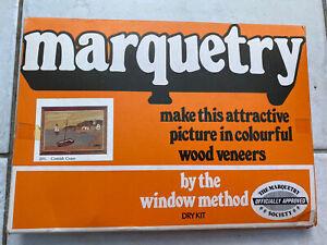 1970's Retro The Art Veneers Co Ltd Marquetry Dry Kit - Wood Veneers - Crafts