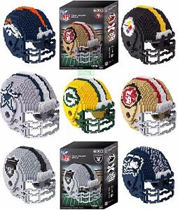 NFL BRXLZ Team Helmet 3-D Puzzle Construction Toy New -Pick your Team!