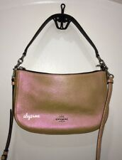 *NWT* Coach Chelsea Iridescent Hologram Leather Crossbody Bag 37158 Gold