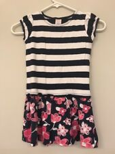 Gymboree Girls 6 Dress Striped Floral Blue Nautical