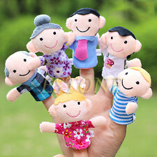 6PCS/Set Kids Baby Plush Cloth Play Game Learn Story Family Finger Toys Puppets