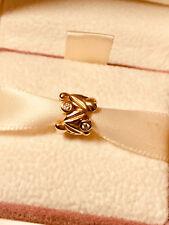 Orig. Pandora Armband Charm mit 4 Diamanten, 14 Karat Gold