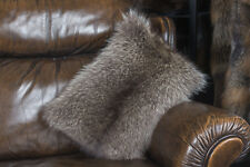 1376 Little Raccoon Fur Pillow Genuine Fur Cushion Real Fur Pillow Raccoon Fur