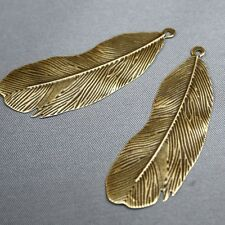 Pack de 20 – Mince tranche Feather Charms Pendentifs