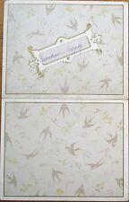 Menu: French, 1884 Color Litho w/Birds - 'Pate de Foie Gras en Croute'
