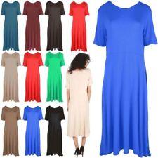 Tea Dress Synthetic Dresses for Women