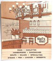 1980's Vintage Menu HOF'S HUT Restaurant Southern California Locations