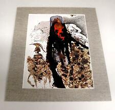 Salvador Dali vintage year 1974 bible soldier art 11x14 tweed custom matted