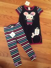 Gymboree Baby Girl 3T Mouse Theme Outfit- Lot Of 3 Pieces NWT