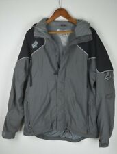 Fox Racing Black Grey Jacket zip W/ Hood Size Med Back Country 2 Waterproof