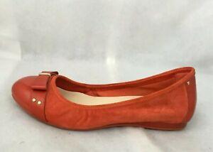 Cole Haan Women's Air Monica Ballet Flat,Cinnabar Suede W/ Patent Leather 6.5 B