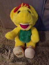"Vintage 1994 Barney & Friends BJ Yellow Plush Dinosaur Stuffed Animal 14"""