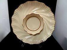 Lenox Chip And Dip Platter Gold Accents  RICHMOND SERVER GOLD   12 .5 INCHES