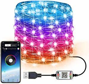 10M / 20M LED Guirlande Décoration Sapin Noel App USB Fête Connectée Cuisine