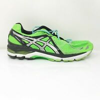Asics Mens GT 2000 3 T500N Black Green Running Shoes Lace Up Low Top Size 13