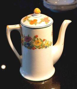 Beautiful Art Deco Grindley Ivory The Fairfield Coffee Pot