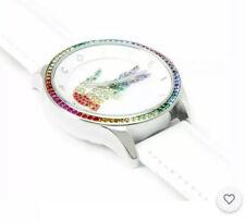 Lacoste Ladies Victoria White Strap Multicoloured Stone Set Analogue Watch. 585