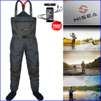 HISEA Fly Fishing Chest Wader Luxury Breathable Stocking Foot Extra Rugged Wader