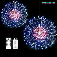 100LED RGB Firework Copper Wire LED String Fairy Light Xmas Outdoor Garden Decor