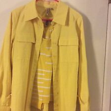 209 Wst Women's Blouse And Jacket( Beautiful Yellow Color) Medium Size 6