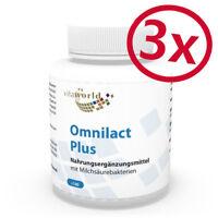 3er Pack Omnilact plus 3 x 100 Kapseln Lactobacillus Probiotikum Bifidobacterium