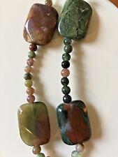 Fancy Jasper Semi-Precious Stone Beads 30pc Mixed Strand