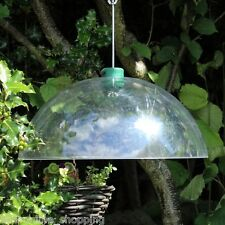 Universal Squirrel Baffle Hook Bird Proof Garden Clear Dome Protect Feeder hang