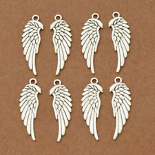 8pcs Ancient Silver Angel Wings Pendants Charms Alloy Unisex Sacred Jewelry Gift