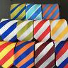 Men Classic Bright Color Striped Wide 8cm Tie Casual Business Necktie BWTHZ00016