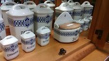 Antique 14 Piece Porcelain Spice/Canister Set Czechoslovakia