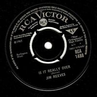 """JIM REEVES Is It Really Over 7"""" Single Vinyl Record 45rpm RCA Victor 1965"""