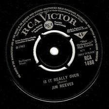 "JIM REEVES Is It Really Over 7"" Single Vinyl Record 45rpm RCA Victor 1965"