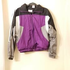 Vtg  B.I. Gear colorblock nylon jacket Size Small windbreaker retro track