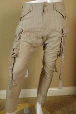 Julius Light Gray Drop Crotch Cargo Pants sz 3 Large Trousers Jeans New