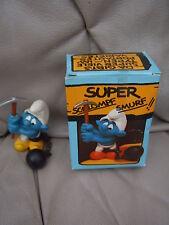 SCHLEICH Schlümpfe STRAFARBEITER 4.0213 OVP SUPER SCHLUMPF SMURF 40213