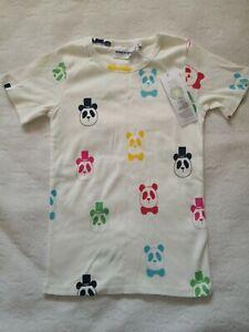 Nwt Size 116-122 Mini Rodini Panda Rib Tee organic cotton
