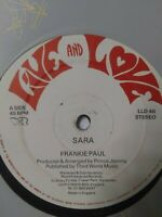 "Frankie Paul-Sara 12"" Vinyl Single 1987 REGGAE DANCEHALL"