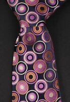 ** Christian Lacroix Tie Circle Abstract 100% Silk Made in Italy *C0419a2