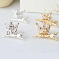 Crystal Crown Hairpin Rhinestone Headwear Barrettes Princess Hair Clips