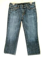 Citizens of Humanity Womens Kelly Cropped Jeans Stretch #063 Low Dark Tag Sz 29