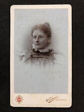 Victorian Carte De Visite CDV: Lady: Wickens: Upper Bangor: Wearing Glasses