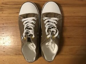 Crocs Hover Canvas Lace Up Sneakers Tan/Brown Men's Size 10 Lightweight NEW