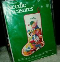 Vintage Needle Treasures Toyland Christmas Stocking Counted Cross Stitch Kit